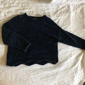Zara Navy Blue Knit Sweater